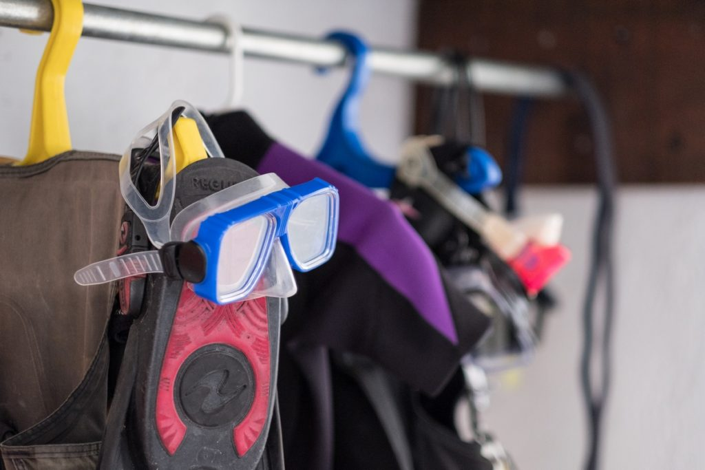 Room to hang your dive gear