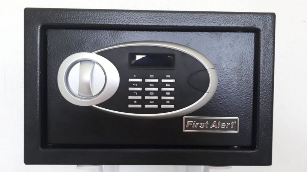 Small safe for your personal use in each apartment